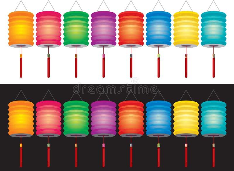 Lanternas chinesas ilustração stock