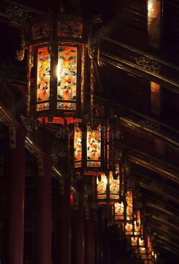 Lanternas chinesas de vidro fotos de stock