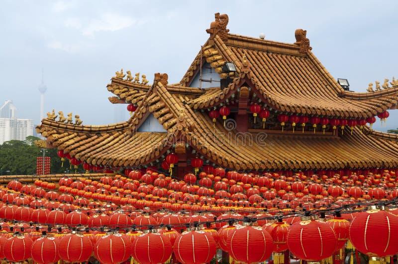 Lanternas chinesas vermelhas foto de stock royalty free