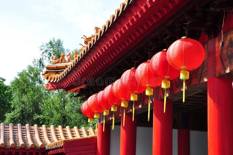 Lanternas chinesas vermelhas imagem de stock