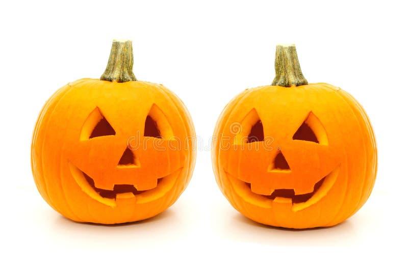 Lanternas de Halloween Jack O foto de stock