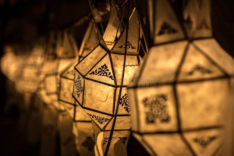 Lanternas de Lanna em Tailândia fotos de stock royalty free