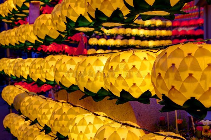 Lanternas de Lotus fotos de stock royalty free