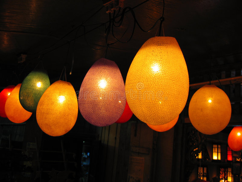 Lanternas de papel de incandescência imagens de stock royalty free