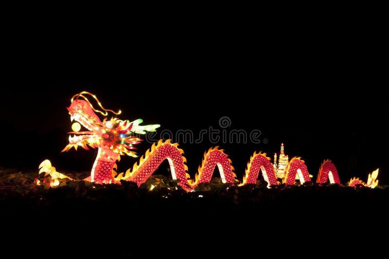 Lanternas do dragão do festival fotografia de stock