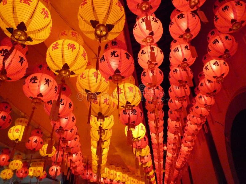 Lanternas do festival de mola foto de stock