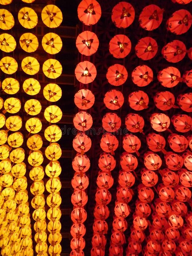 Lanternas do festival de mola fotos de stock royalty free