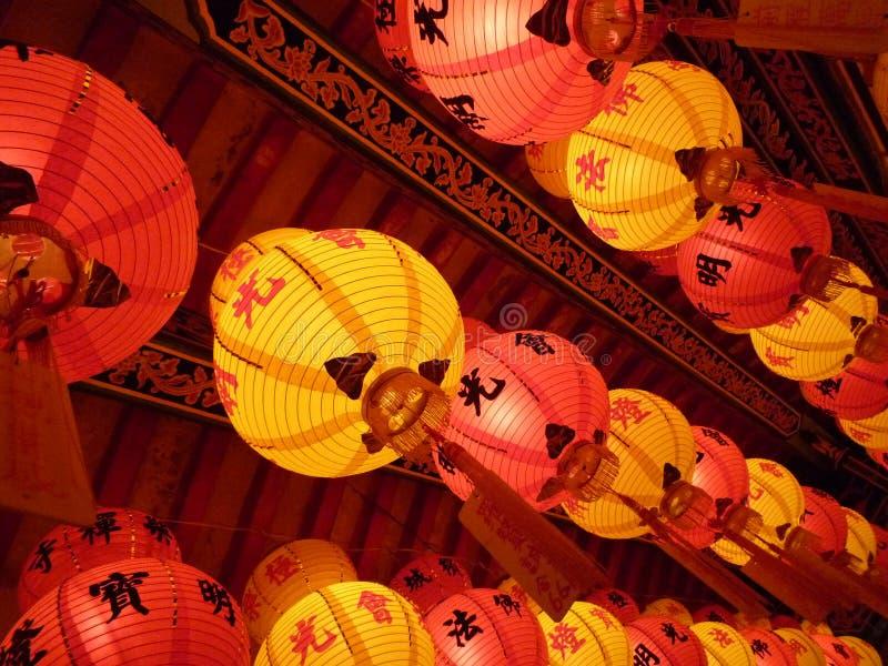 Lanternas do festival de mola fotografia de stock royalty free