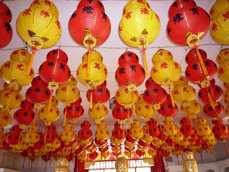 Lanternas do festival de mola foto de stock royalty free