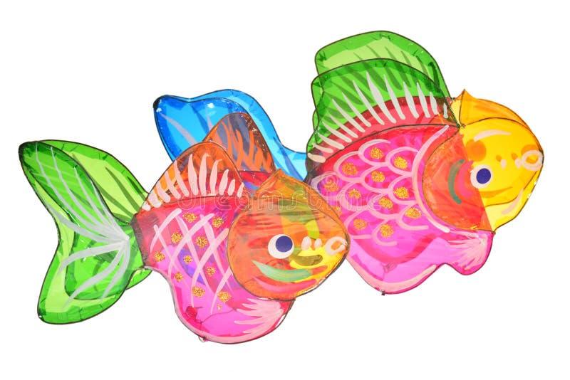 Lanternas do projeto dos peixes fotografia de stock
