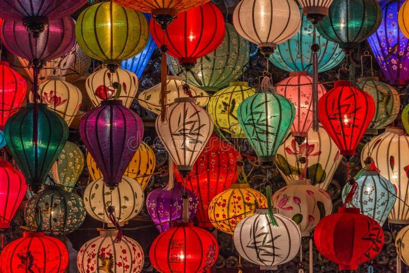 Lanternas em Hoi An imagem de stock royalty free