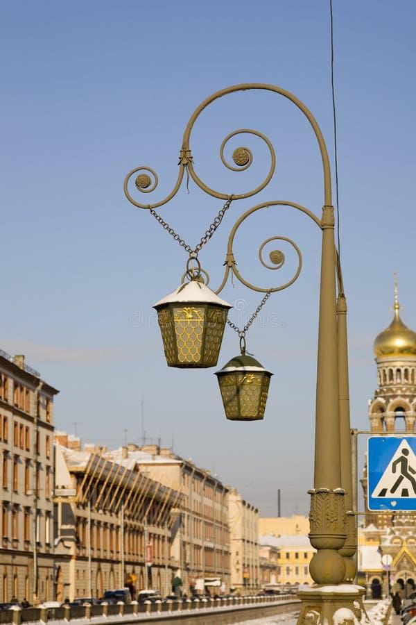 Lanternas em St. - Petersburgo fotos de stock