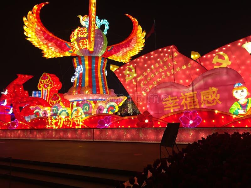 Lanternas em Tianjin, China fotos de stock