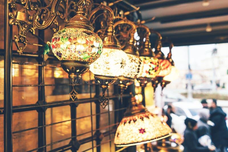lanternas turcas brilhantes do mosaico foto de stock royalty free