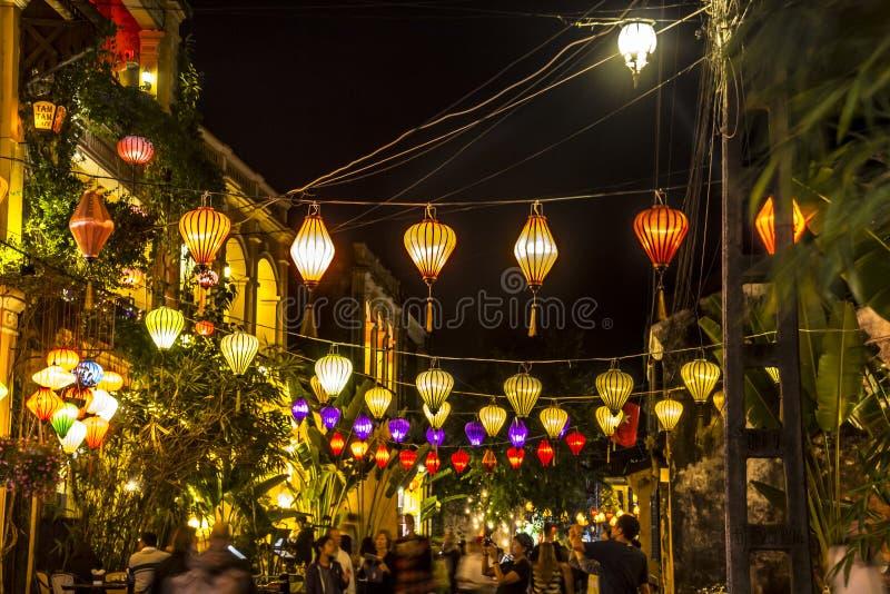 Lanternas, turistas imagens de stock