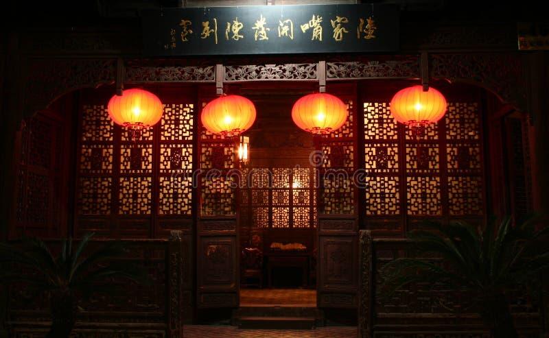 Lanternas vermelhas imagens de stock