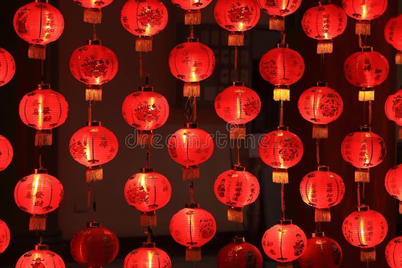 Lanternas vermelhas grandes fotos de stock