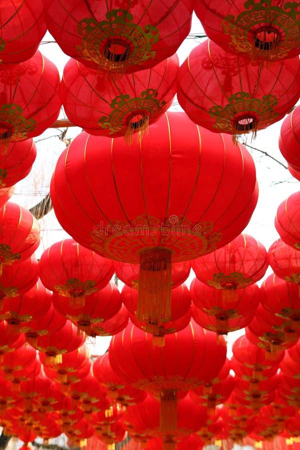 Lanternas vermelhas grandes imagem de stock
