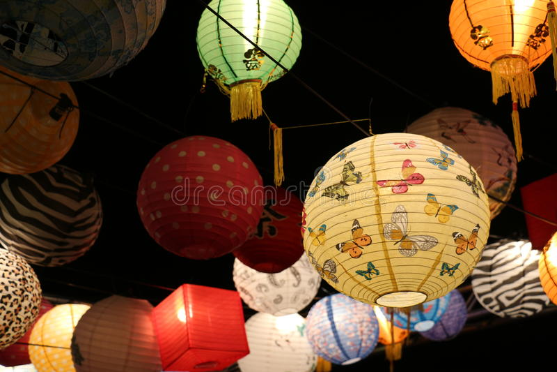 Lanterne al festival Canberra di chiarimento immagini stock