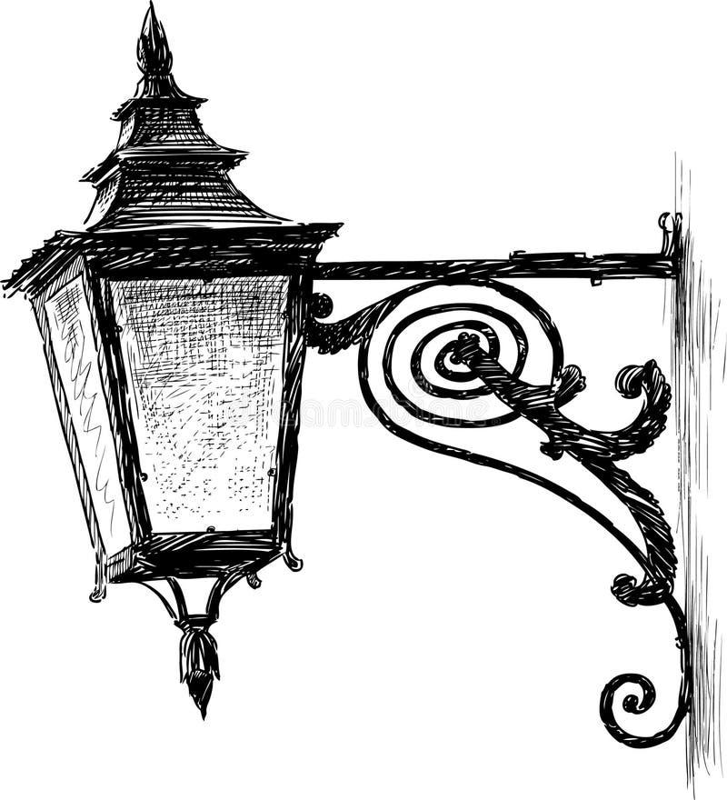 Lanterne antique illustration stock