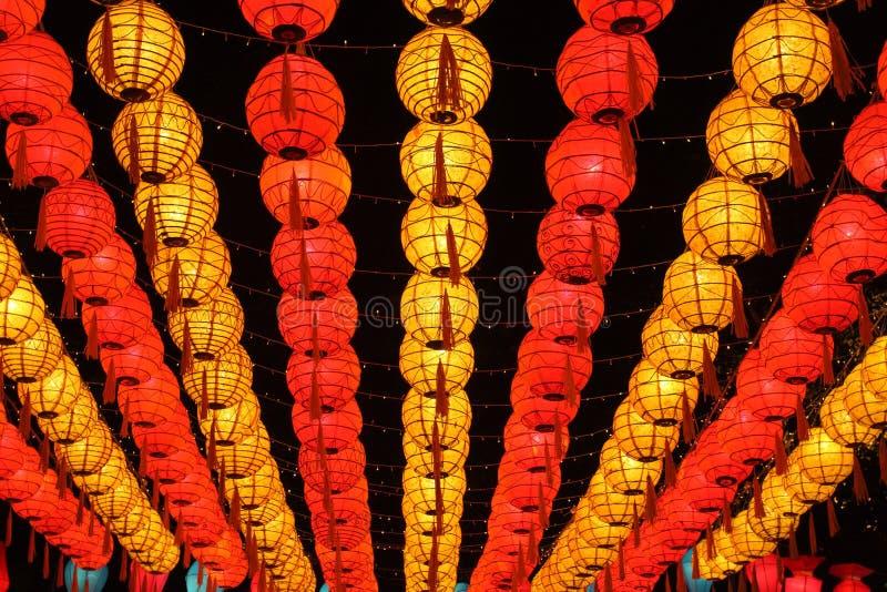 Lanterne asiatiche del nuovo anno immagine stock