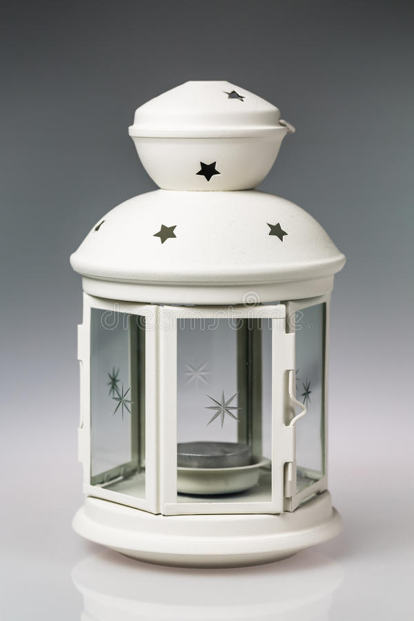 lanterne blanche photo stock image du star neige saison 52342128. Black Bedroom Furniture Sets. Home Design Ideas