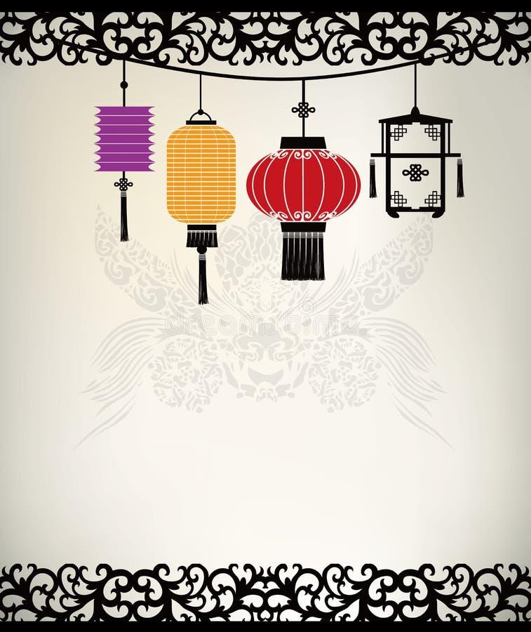 Lanterne chinoise illustration libre de droits