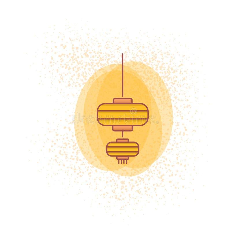 lanterne chinoise colorée pour le papier peint 2019 chinois de nouvelle année illustration libre de droits