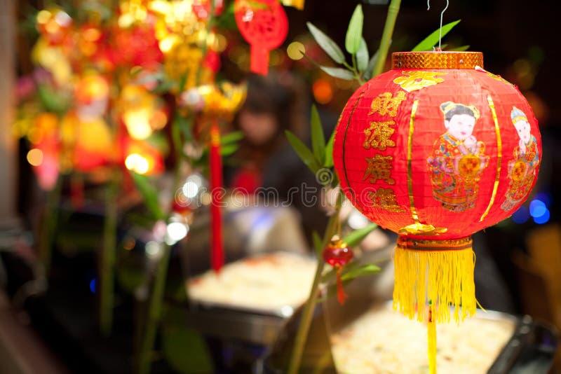 Lanterne chinoise d'an neuf images libres de droits