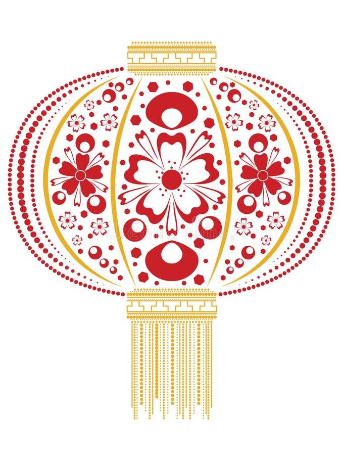 Lanterne chinoise florale illustration libre de droits