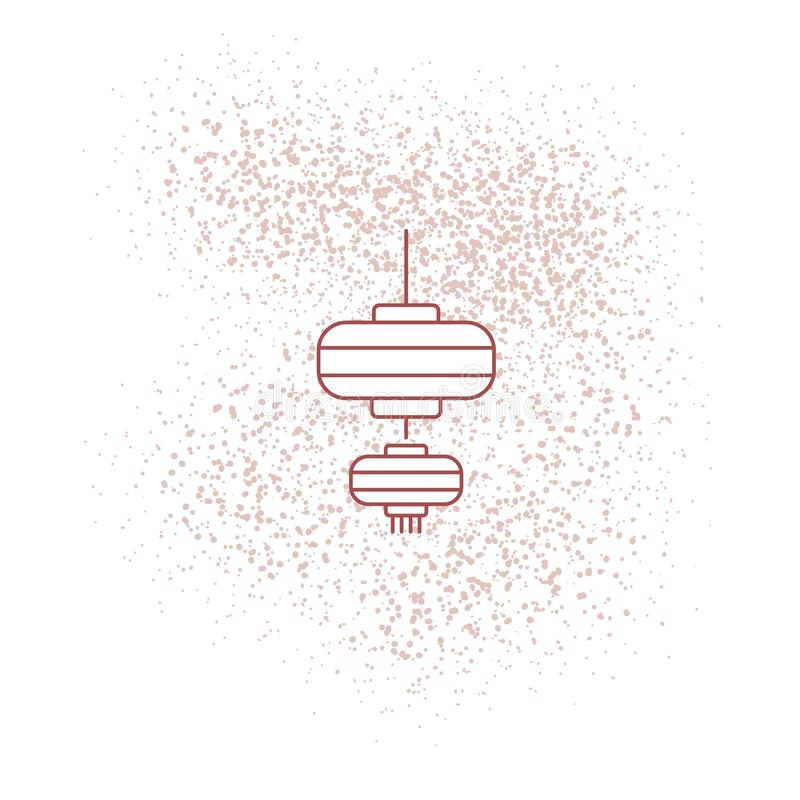 Lanterne chinoise pour le wallpape 2019 de nouvelle année illustration stock
