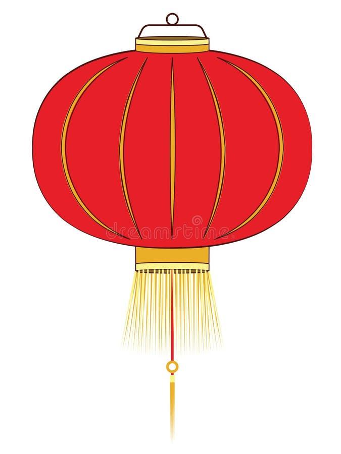 Lanterne chinoise rouge illustration libre de droits