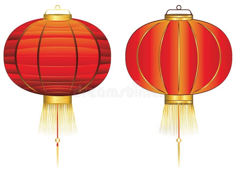 Lanterne chinoise rouge illustration de vecteur
