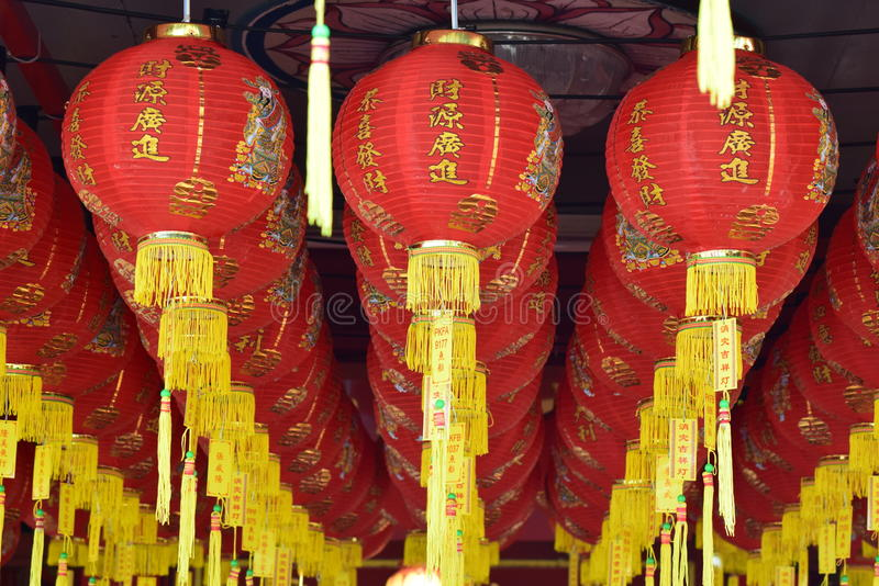 Lanterne cinesi di nuovo anno fotografia stock libera da diritti