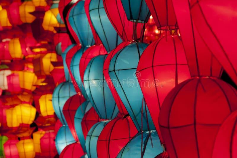 Lanterne coreane immagine stock libera da diritti