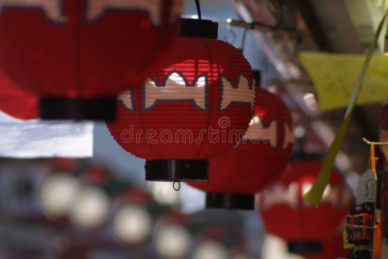 Lanterne d'attaccatura fotografie stock