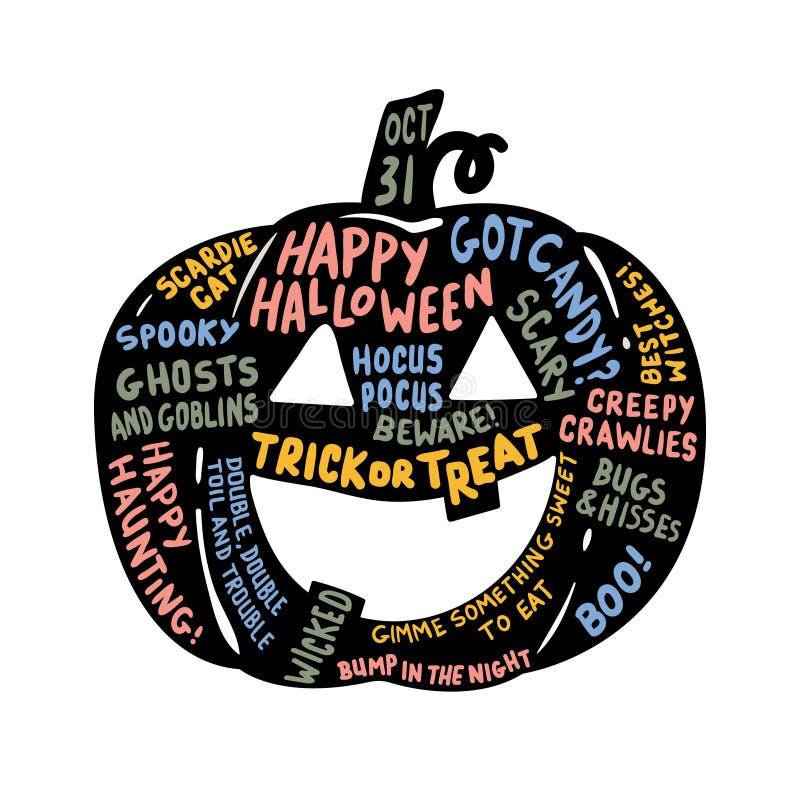 Lanterne de Halloween Jack o illustration stock
