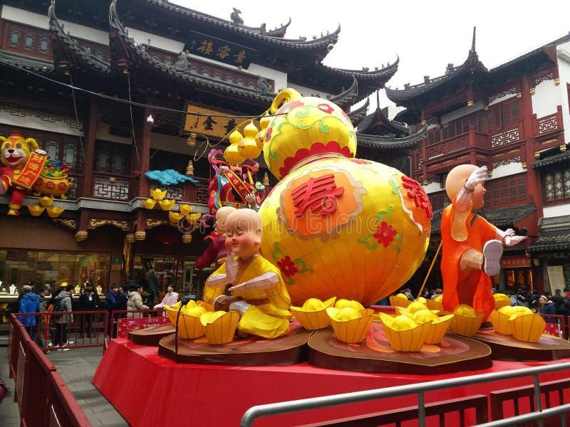 Lanterne de Holigay de folklore de Shang Hai Chinese photos libres de droits