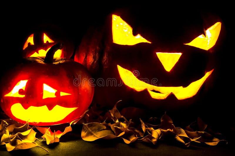 Lanterne de Jack O de potiron de Halloween photo libre de droits