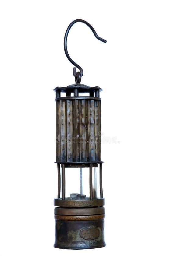 Lanterne de sécurité des mineurs, d'isolement image stock