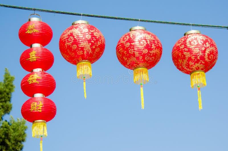 Lanterne di carta rosse immagine stock