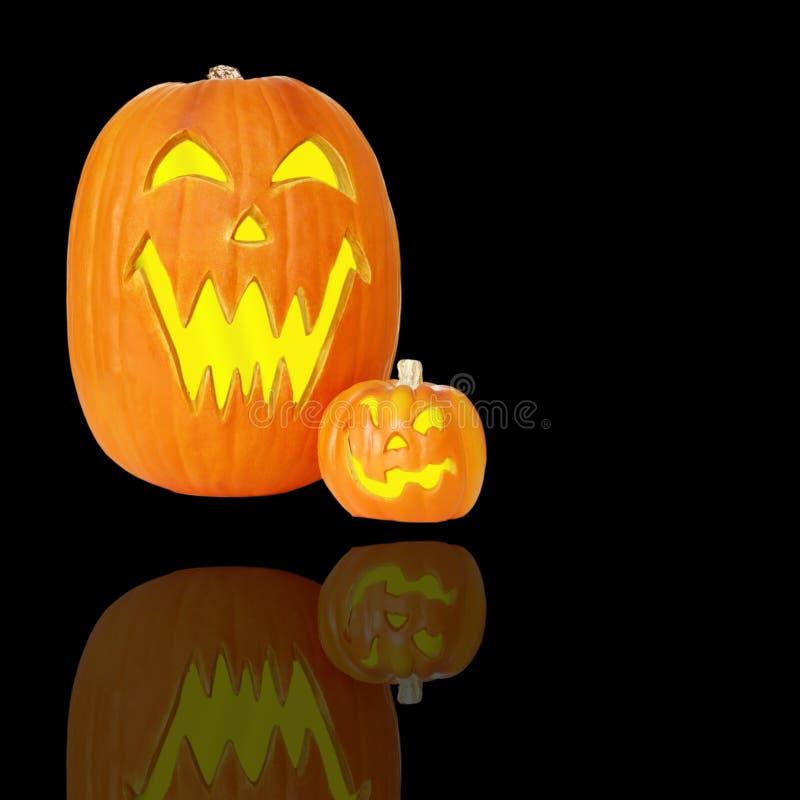 Lanterne di Halloween Jack O fotografie stock libere da diritti