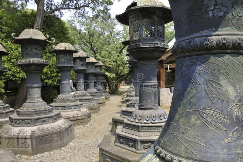 Lanterne di pietra fotografie stock libere da diritti
