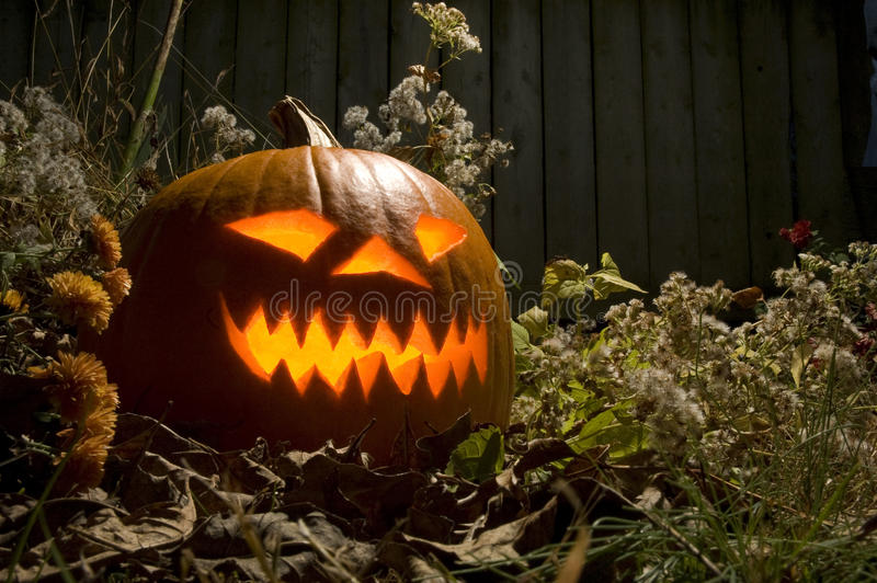 Lanterne effrayante de Halloween Jack o photographie stock