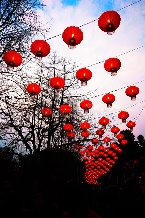 Lanterne, festival de printemps photographie stock libre de droits