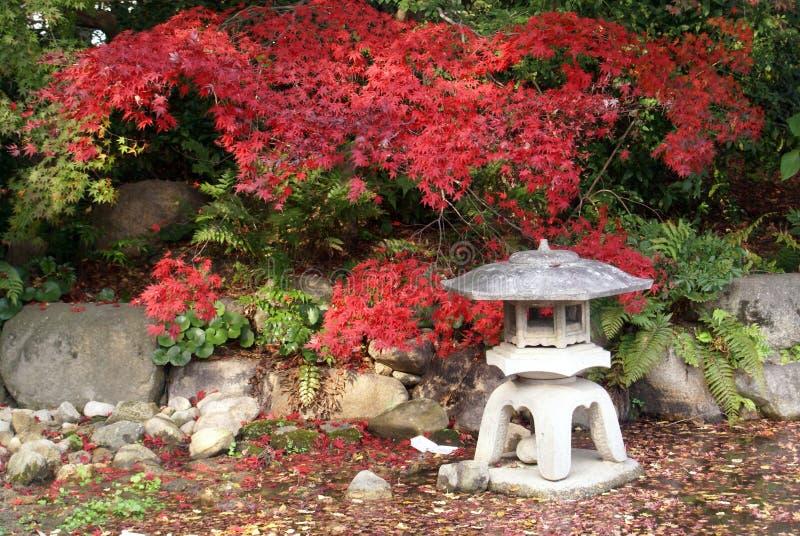 Lanterne japonaise dans le jardin image libre de droits