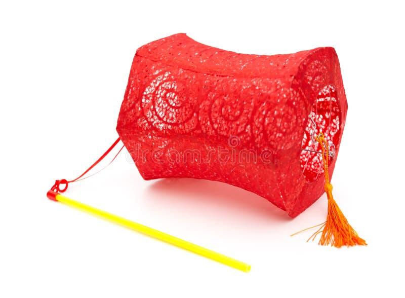 Download Lanterne Rouge Avec La Poignée Sur Le Fond Blanc Image stock - Image du blanc, traditionnel: 77150081