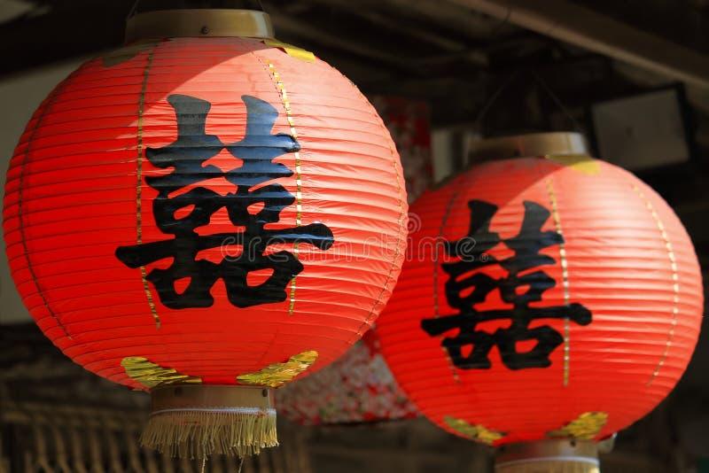 Lanterne rouge chinoise photographie stock