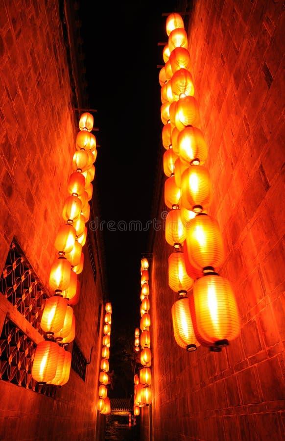Lanterne rouge chinoise images libres de droits