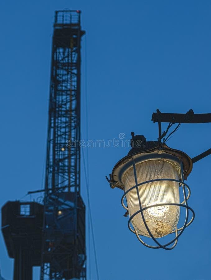Lanterne rouillée en Sibérie Russie image stock